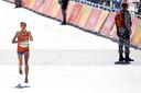 Andrea Deelstra tijdens de marathon op de Olympische Spelen in Rio.
