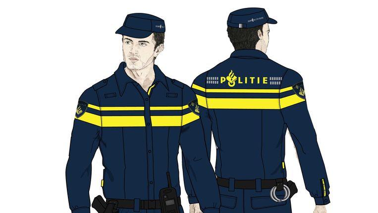 Het nieuwe uniform van de Nationale Politie. Beeld ANP Communique