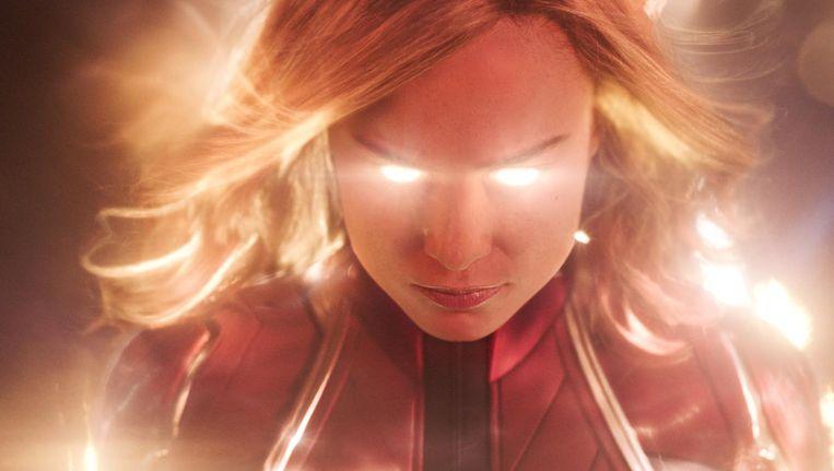 Brie Larson als Captain Marvel. Beeld .