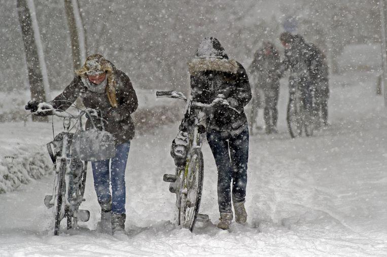 Zo zag het er december 2010 uit in Amstelveen tijdens een sneeuwstorm. Beeld ANP