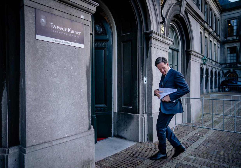 Volgens demissionair premier Mark Rutte is er rondom de toeslagenaffaire niets vreemd of onoorbaars gebeurd in de ministerraad. Beeld EPA