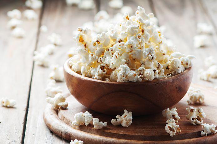 Popcorn uit een zak is zes keer duurder dan popcornmaïs.
