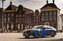 De Toyota Mirai op de Grote Markt in Groningen.