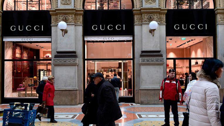 Het luxueuze modemerk Gucci zag haar omzet in 2017 aanzienlijk stijgen. Beeld AFP