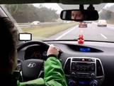 Vegan Streaker strijdt tegen konijnenleed en vertraagt verkeer op A59