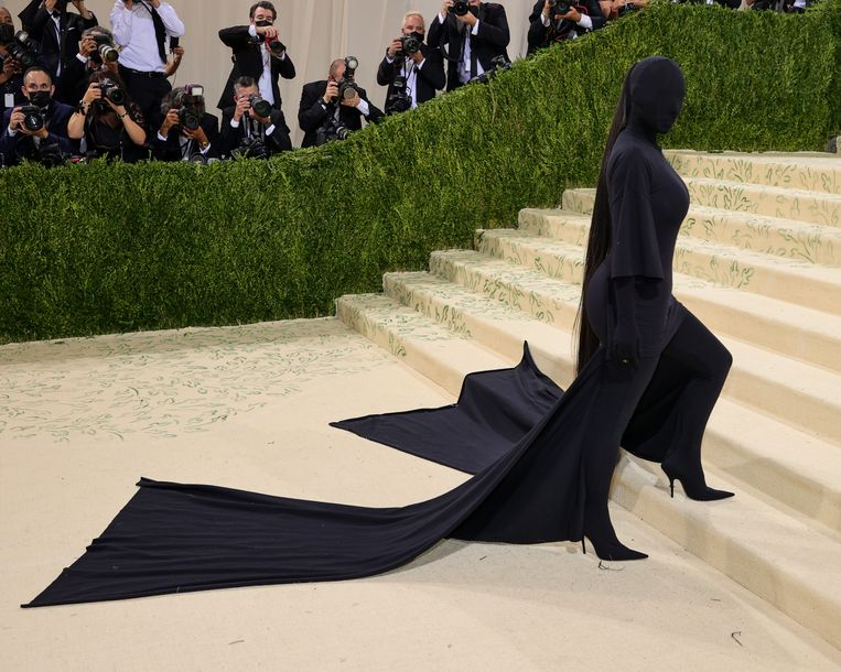Kim Kardashian op het Gala van The Metropolitan Museum of Art in New York.  Beeld Getty Images