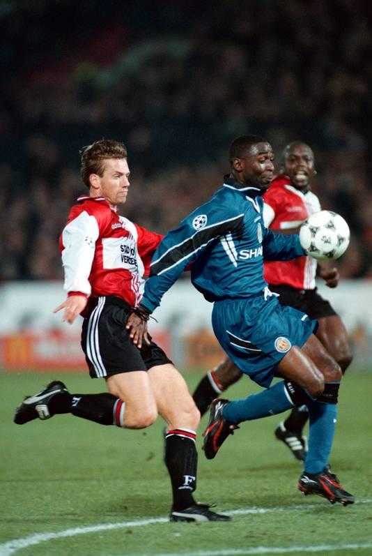 Bernard Schuiteman (links) speelde voor zowel FC Utrecht als Feyenoord.