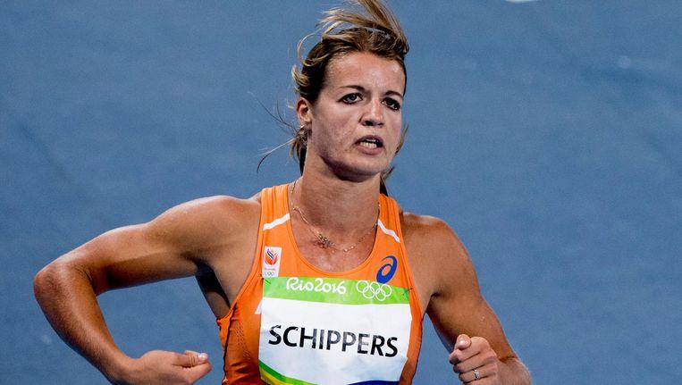 Dafne Schippers redt het niet in de finale van de 100 meter. Beeld anp