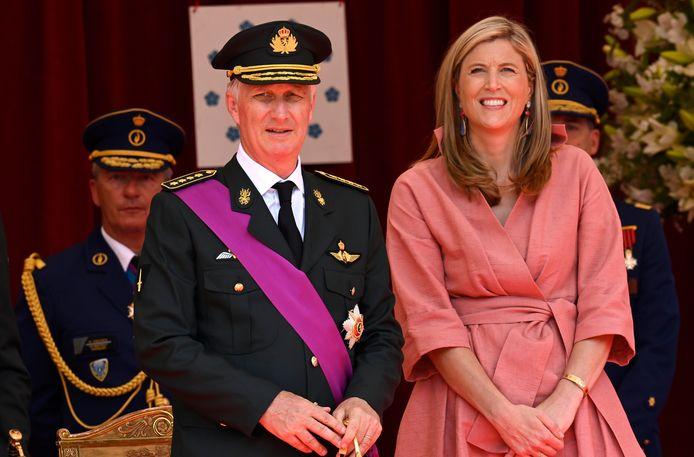 Le roi Philippe aux côtés de la ministre de l'Intérieur Annelies Verlinden.