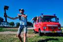 Vorig jaar reisde Kees nog met zijn brandweerwagen.