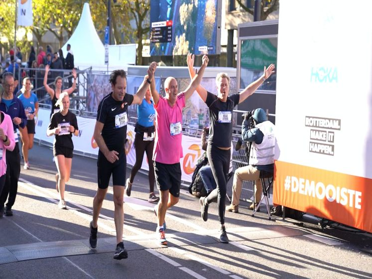 Pascal maakt 2 jaar na hartinfarct de kwart marathon af