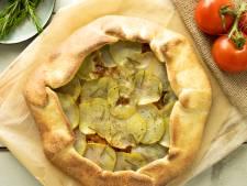 Wat Eten We Vandaag: Zelfgemaakte pizza met aardappel en olijven