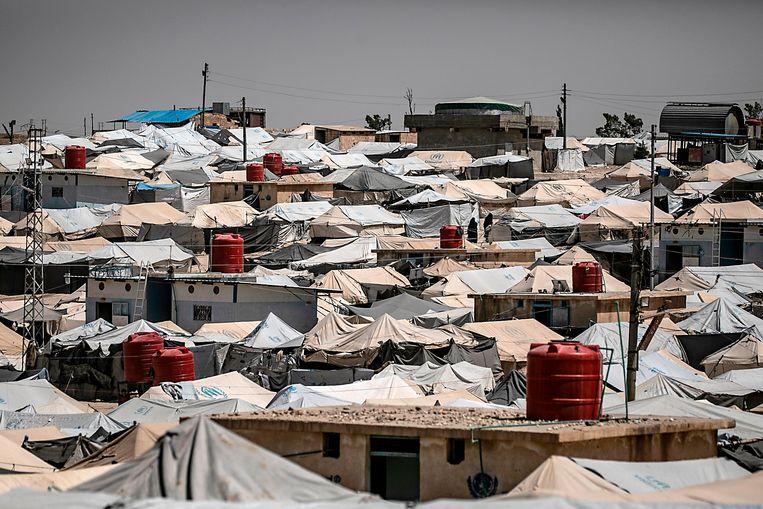 """In Al-Hol leven ongeveer 70.000 mensen. """"Dit is geen kamp meer, maar een stad"""", aldus Stone. Beeld AFP"""