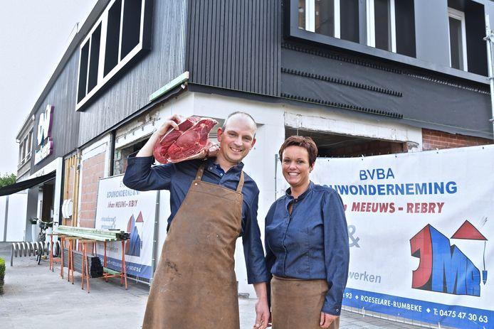 Koen Foulon en Veerle Debussche breiden hun slagerij uit.