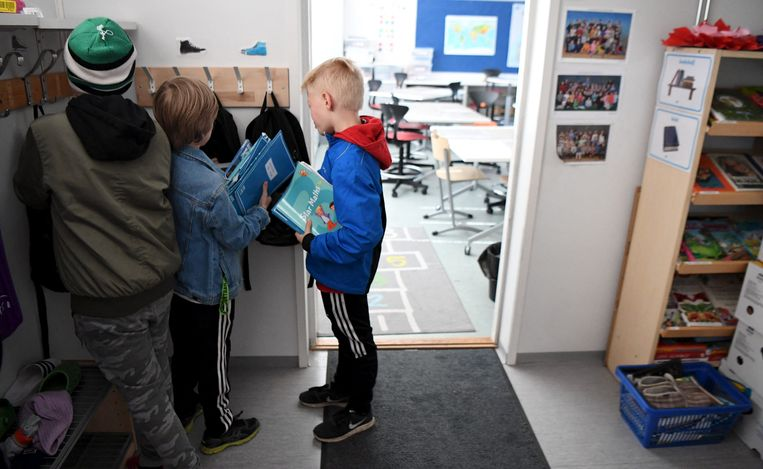 Basisschool in Helsinki, Finland. Beeld Hollandse Hoogte / AFP