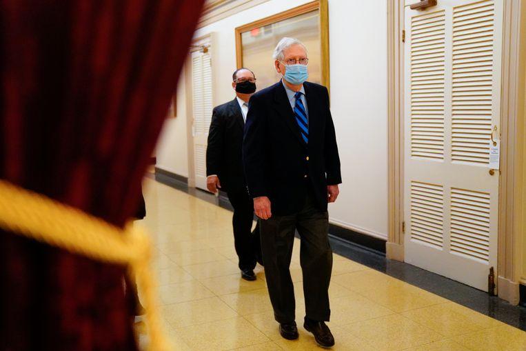 De Republikeinse leider in de Senaat Mitch McConnell. Beeld Reuters
