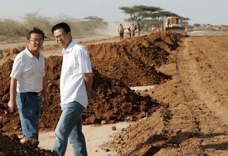 China Wuyi Company bouwde een weg ten noorden van Nairobi.  Beeld REUTERS