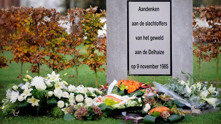 Voor de slachtoffers van de laatste Bende-overval in Aalst werd een monument opgericht. Beeld BELGA