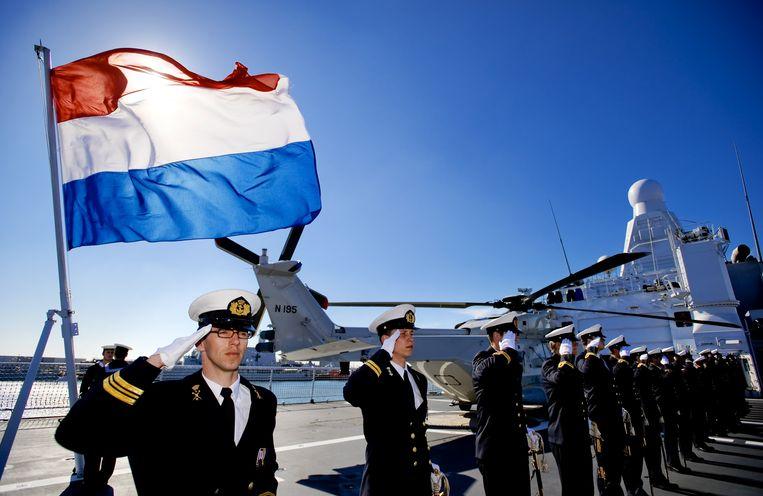 De Hr. Ms. Holland, een van de vier patrouilleschepen van de Oceangoing Patrol Vessels waar de Zr. Ms. Groningen ook onder valt. Beeld ANP