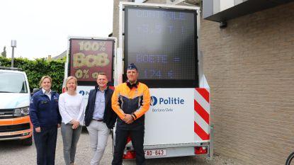 Politiezone Berlare/Zele en gemeenten investeren in nieuwe preventieborden om bestuurders te waarschuwen