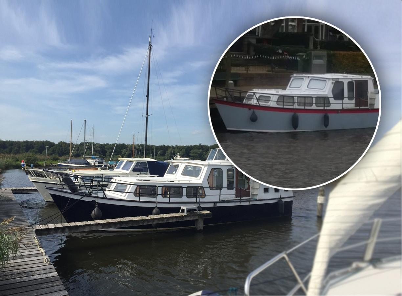 Ernst den Ouden uit Kampen heeft zijn boot terug. In Kampen werd de boot gestolen, in Hasselt (cirkel) vond hij de boot terug
