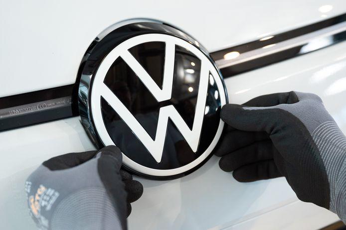 Volkswagen logo. Illustration.
