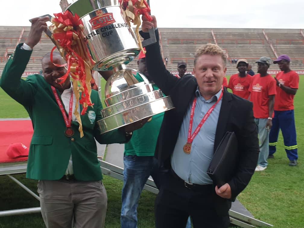 Pieter de Jongh als trainer van FC Platinum in Zimbabwe
