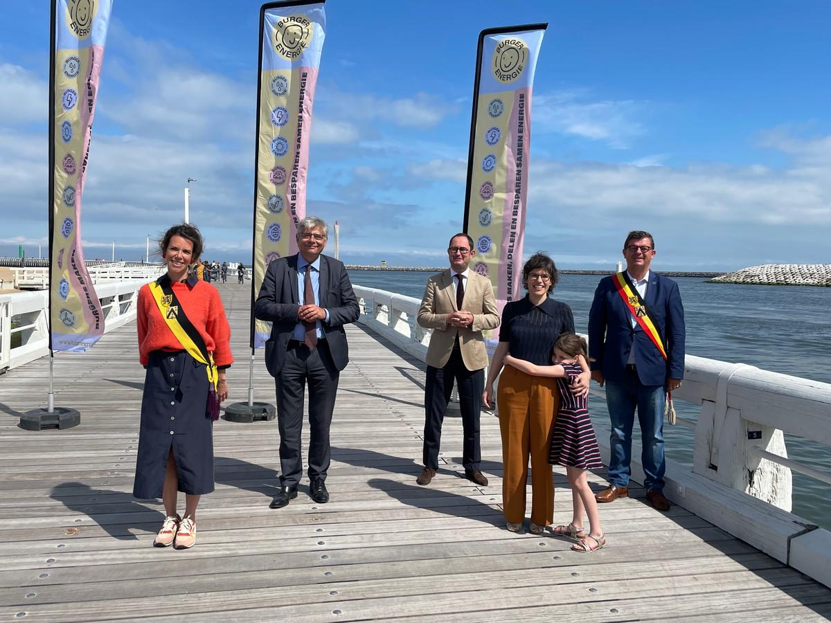 Burgerwind op zee met de steun van minister van Energie Tinne Van der Straeten en Vincent Van Quickenborne, vice-eersteminister en minister van Noordzee