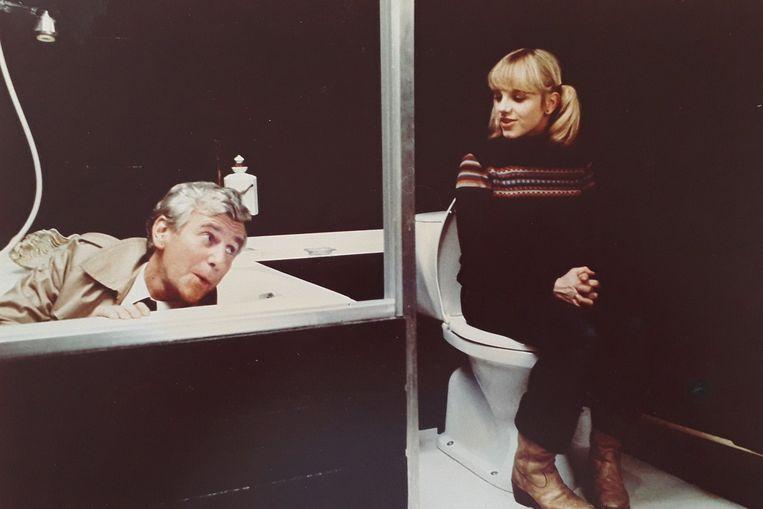 Hugo (Gerard Cox) en Carolien (Marina de Graaf) inHet debuut (1977). Beeld