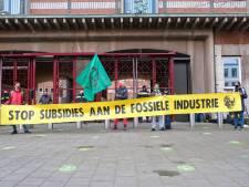 Demonstratie van Extinction Rebellion bij ministerie aan Bezuidenhoutseweg