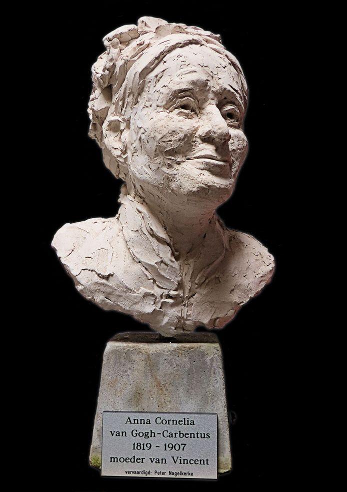 Buste van Anna Cornelia van Gogh-Carbentus, gemaakt door Peter Nagelkerke. Deze komt in het brons in Nuenen te staan.