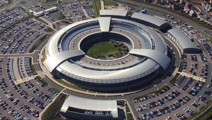 Luchtfoto van het hoofdkwartier van de Britse geheime dienst GCHQ.