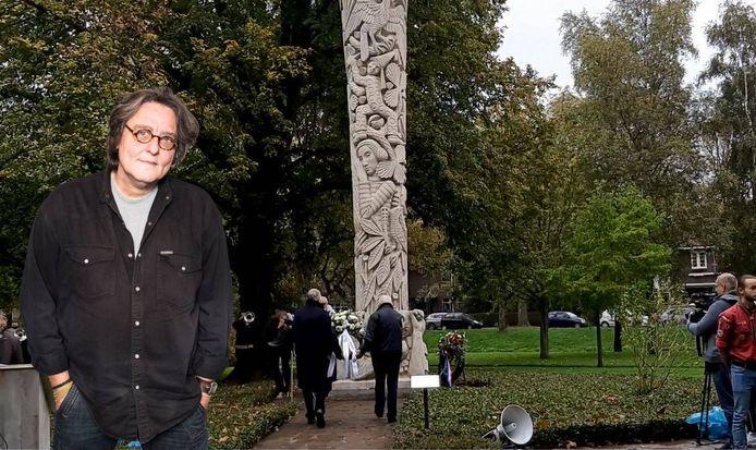Kees Thies over de Dodenherdenking bij de Levensboom in het Merwesteinpark.