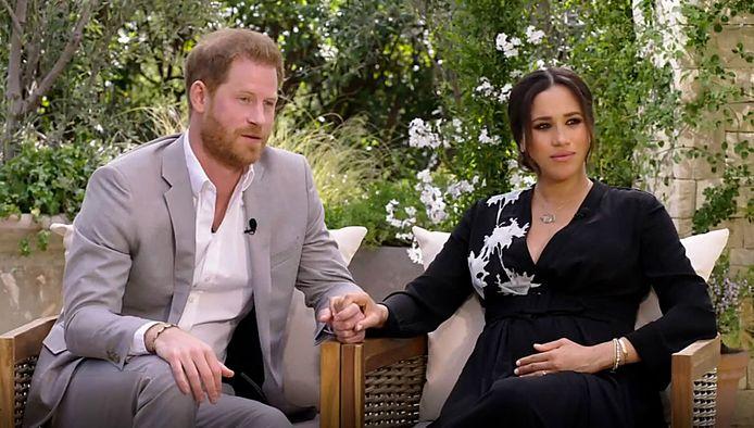 La chaîne CBS a diffusé l'entretien du prince Harry et Meghan Markle avec la présentatrice américaine Oprah Winfrey ce dimanche sur CBS.