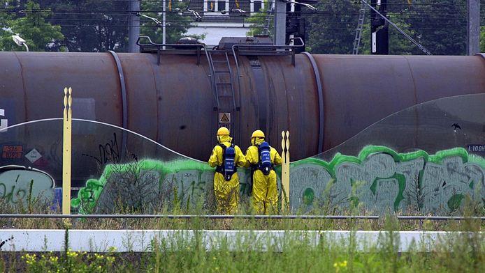 Een hogedrukafsluiter bleek het probleem bij de trein die onderweg was vanuit het Botlekgebied naar Duitsland.