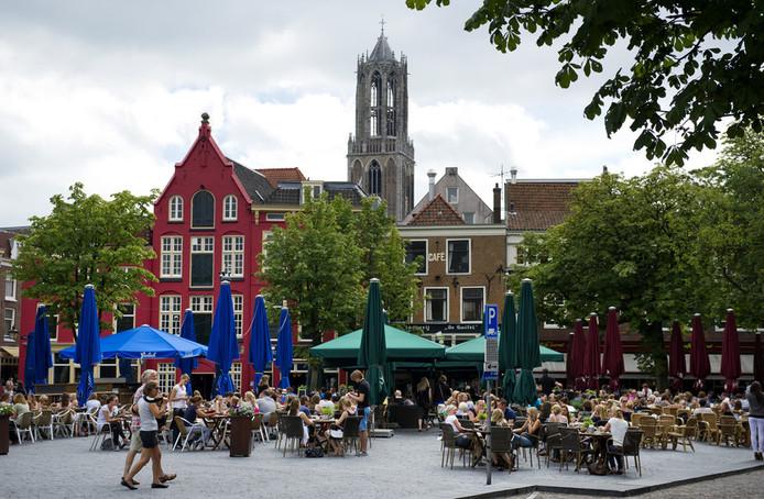 De Neude en de Domtoren in Utrecht.