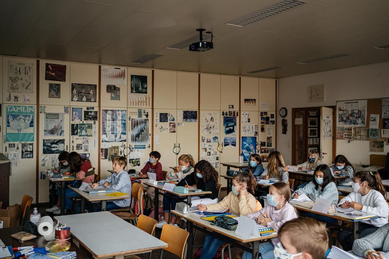 Leerlingen van de Middenschool Voskeslaan in Gent. Beeld Wouter Van Vooren