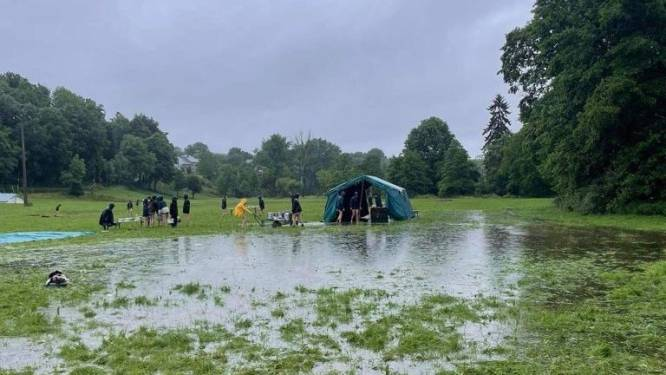 """Ook kamp van Gidsen Sint-Jan getroffen door noodweer: """"We kunnen het wel relativeren"""""""