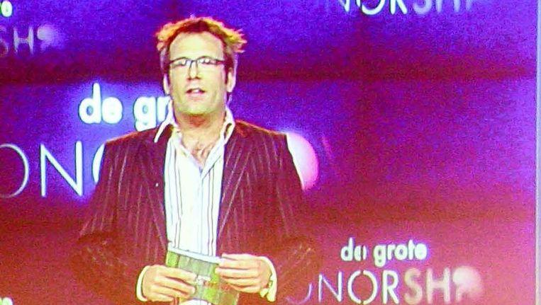 Een fragment uit De Grote Donorshow van BNN. Het bleek een publiciteitsstunt. Beeld