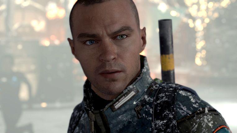 Markus, het derde personage uit 'Detroit: Become Human', wordt de leider van een robo-revolutie. Beeld Sony PlayStation