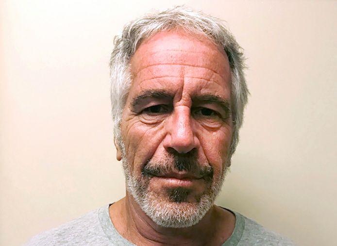 Jeffrey Epstein op een politiefoto uit 2017.