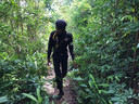 epa07961704 A handout photo made available by Koh Rong police on 31 October 2019 shows a Cambodian police officer during a search for missing British backpacker Amelia Bambridge, on Koh Rong island in Preah Sihanouk province, Cambodia. Amelia Bambridge went missing during her trip to Koh Rong island on 24 October 2019, the local media reported.  EPA/KOH RONG POLICE HANDOUT BEST QUALITY AVAILABLE HANDOUT EDITORIAL USE ONLY/NO SALES