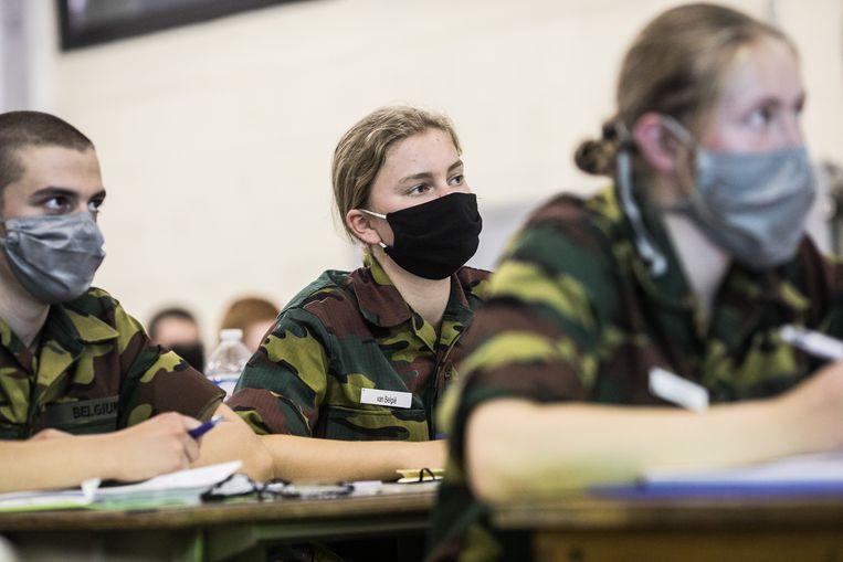 20200910 ELSENBBORN Prinses Elisabeth Hertogin van Brabant, tijdens haar militaire opleiding in Kamp Elsenborn FOTO BAS BOGAERTS Beeld Koninklijk Paleis Belgie