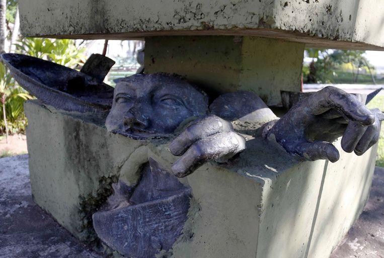 Tegenstandbeeld van Paraguyaans dictator Alfredo Stroessner. Beeld EPA