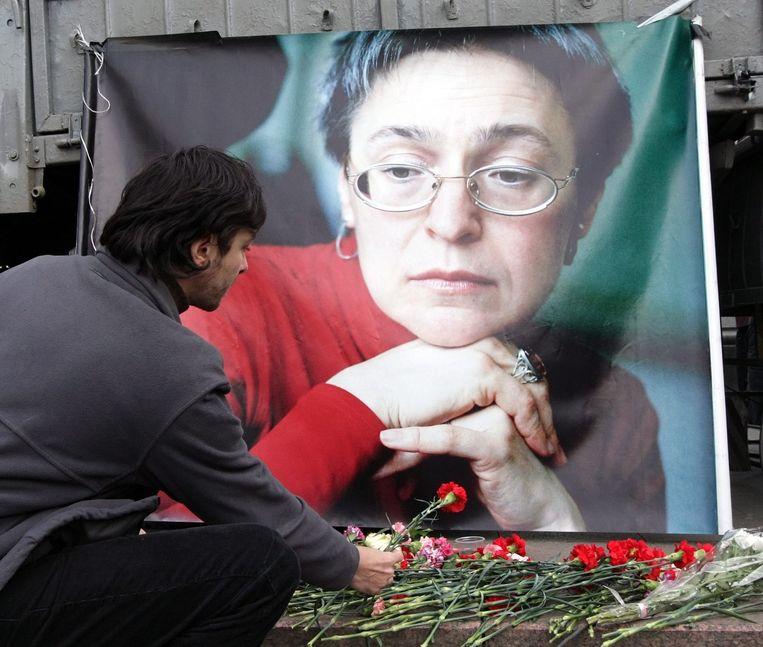 De vermoorde Russische journaliste Anna Politkovskaja. Beeld EPA