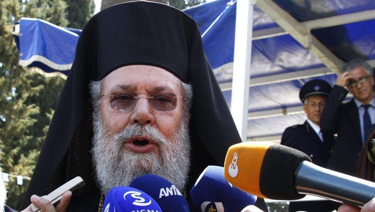 Aartsbisschop Chrysostomos Beeld EPA