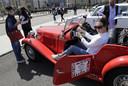 Deelneemster aan de Libanese Rallye des Graces, een women-only rally met klassieke auto's.