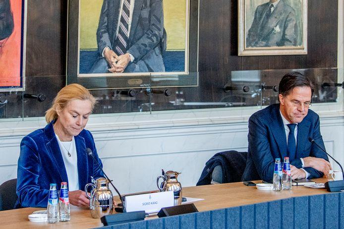 Sigrid Kaag en Mark Rutte. Een snelle formatie lijkt er niet meer in te zitten.