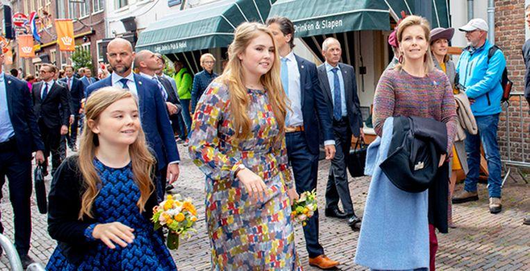 27-04-2019 Koningsdag Dutch royal family during Kingsday in Amersfoort. Princess Amalia and Eveline van den Bent PA and Princess Ariane  © PPE/Nieboer Beeld PPE
