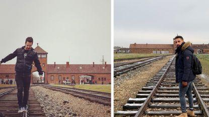Ophef over bezoekers die op spoorrails lopen in voormalig concentratiekamp